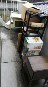 福岡市回収したの不用品列