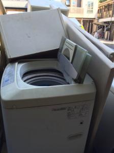 洗濯機を回収しました