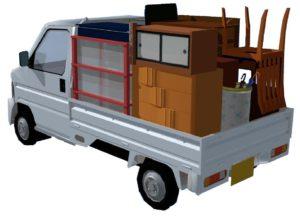 「軽トラック」積み放題 荷台の寸法