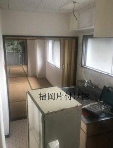 家全体リフォームの為、キッチンの処分は福岡片付け隊