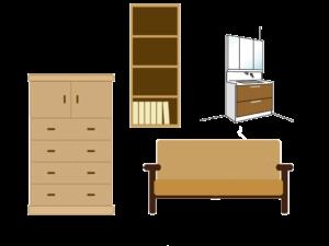 大型家具、タンスなど