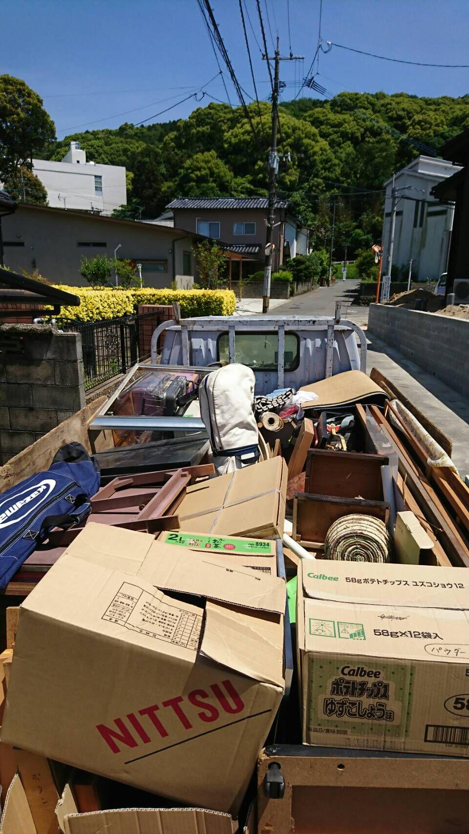 福岡市南区井尻で不用品回収2トントラック積み放題作業後