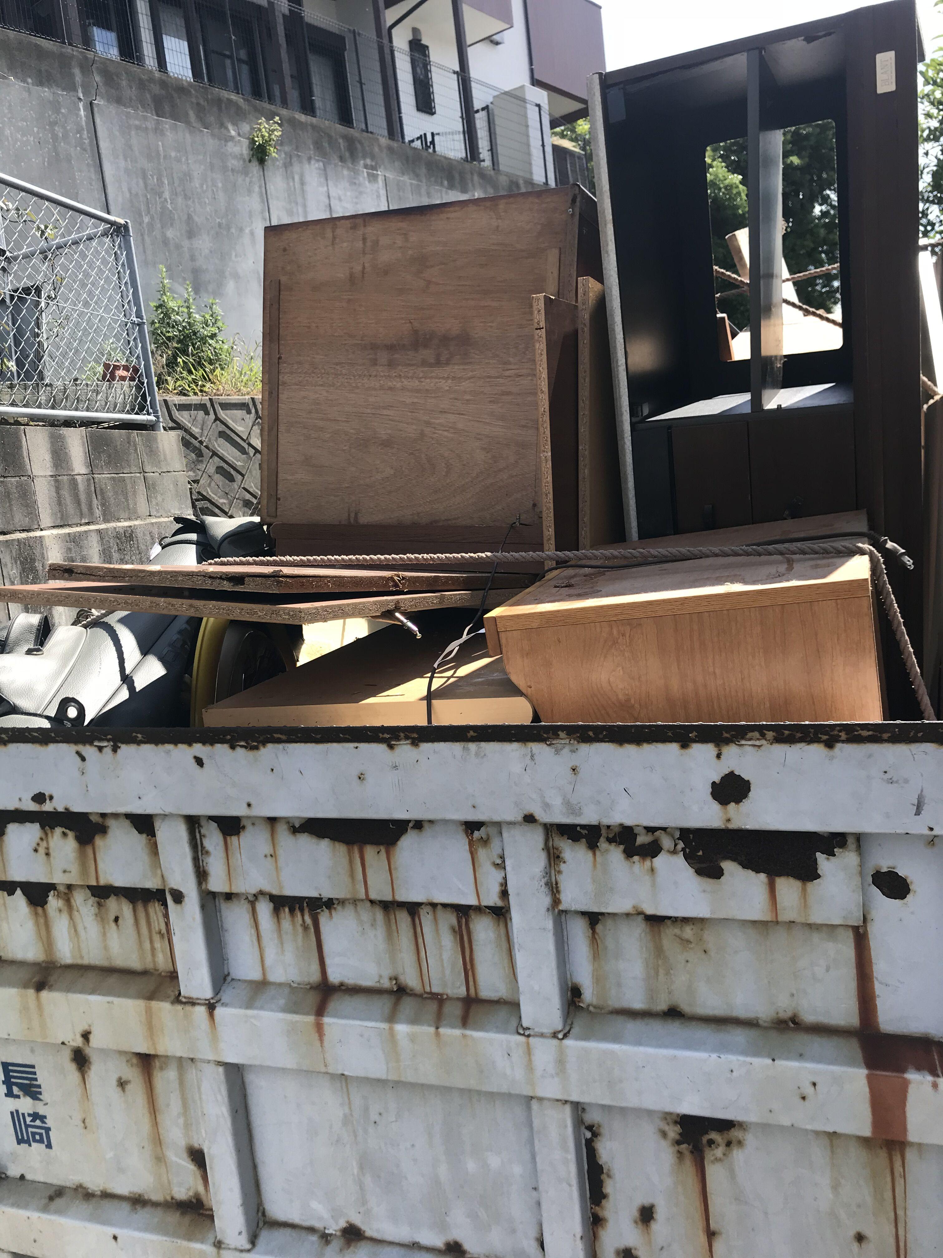 福岡市西区愛宕の不用品回収前