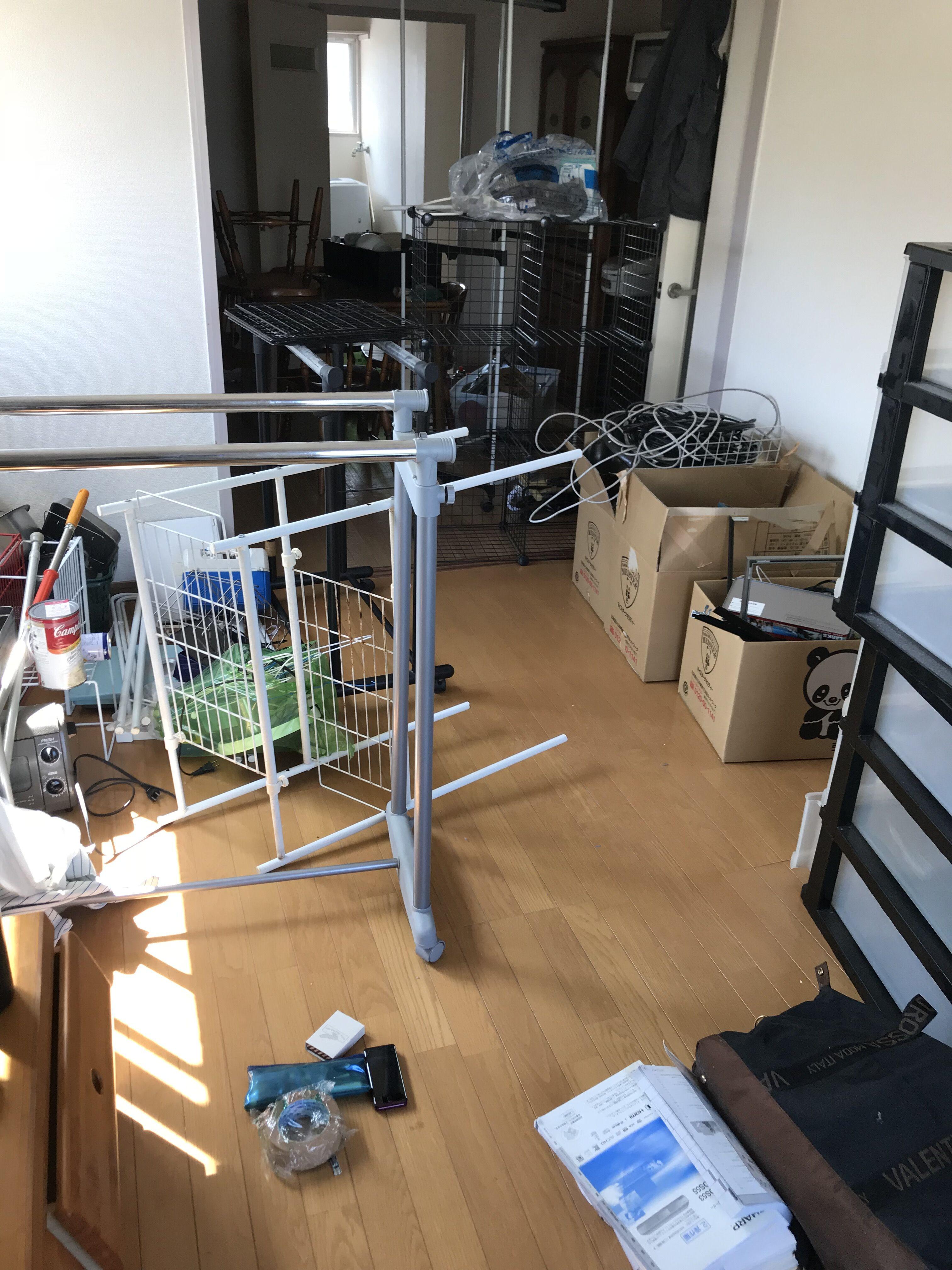 福岡市東区和白で退去後に不用品2LDKまるごとを回収 作業前