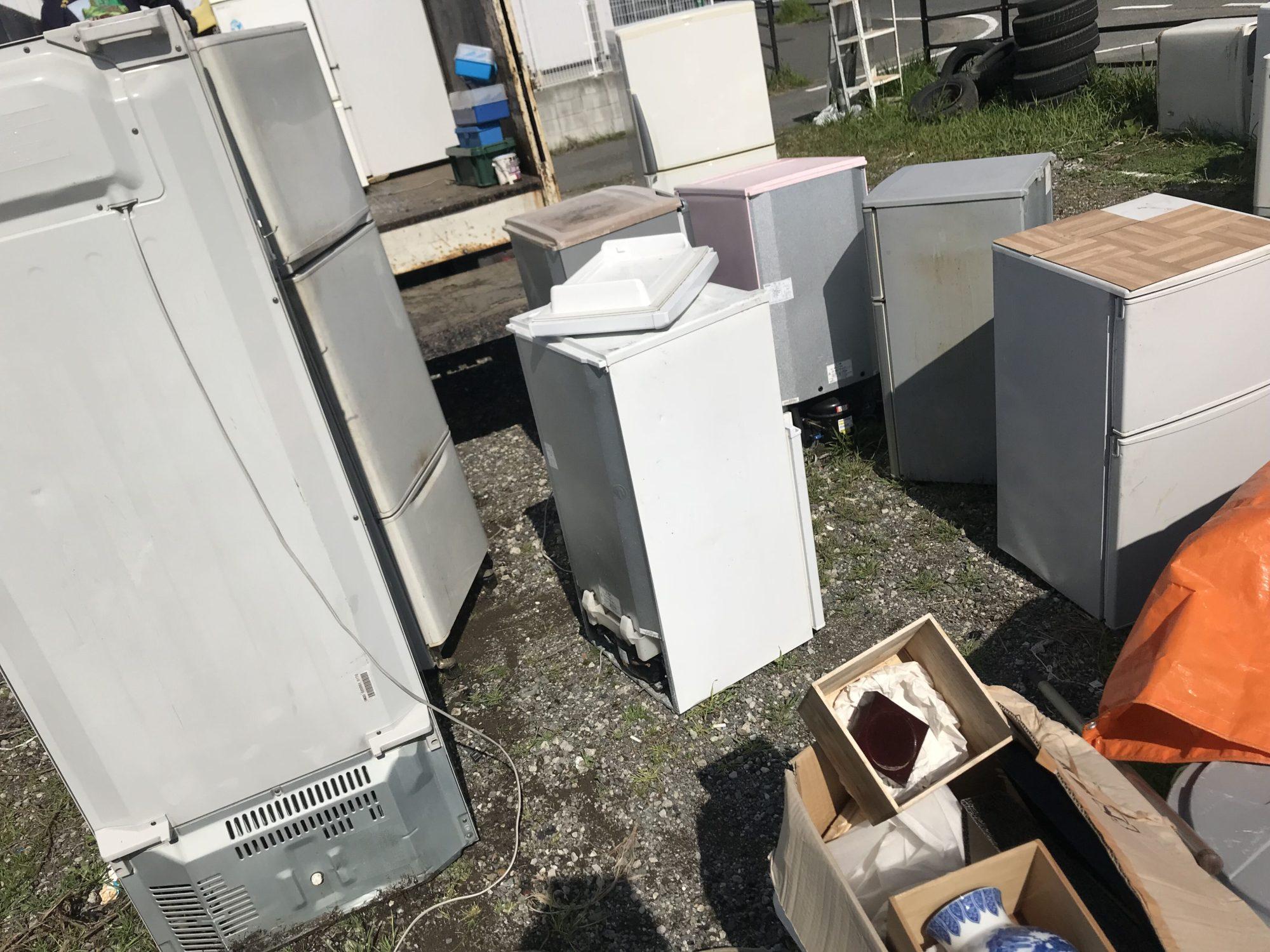 福岡で処分する前大量に溜まった冷蔵庫