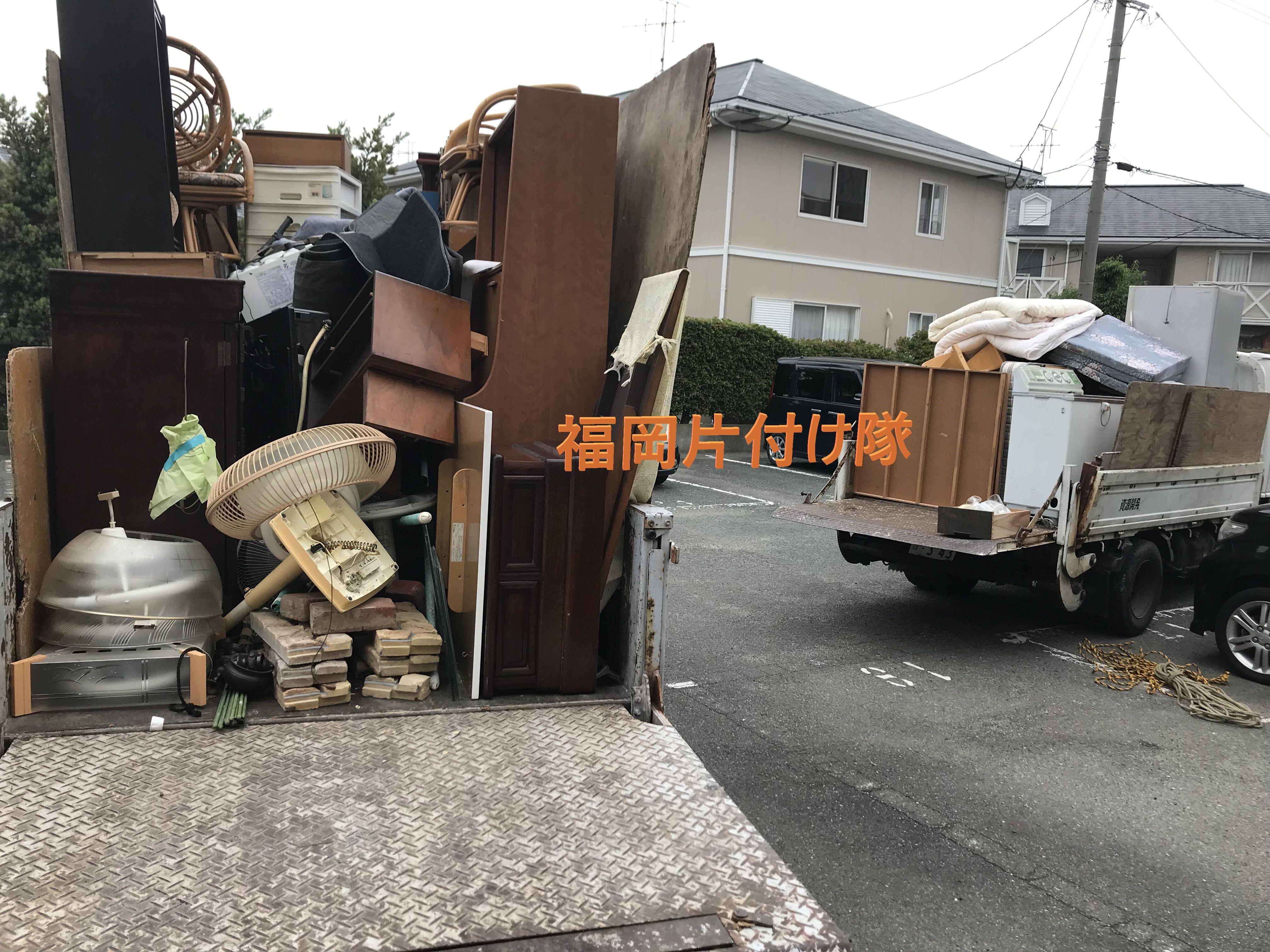 福岡県福岡市博多区千代で不用品回収と引越しゴミ回収作業後写真