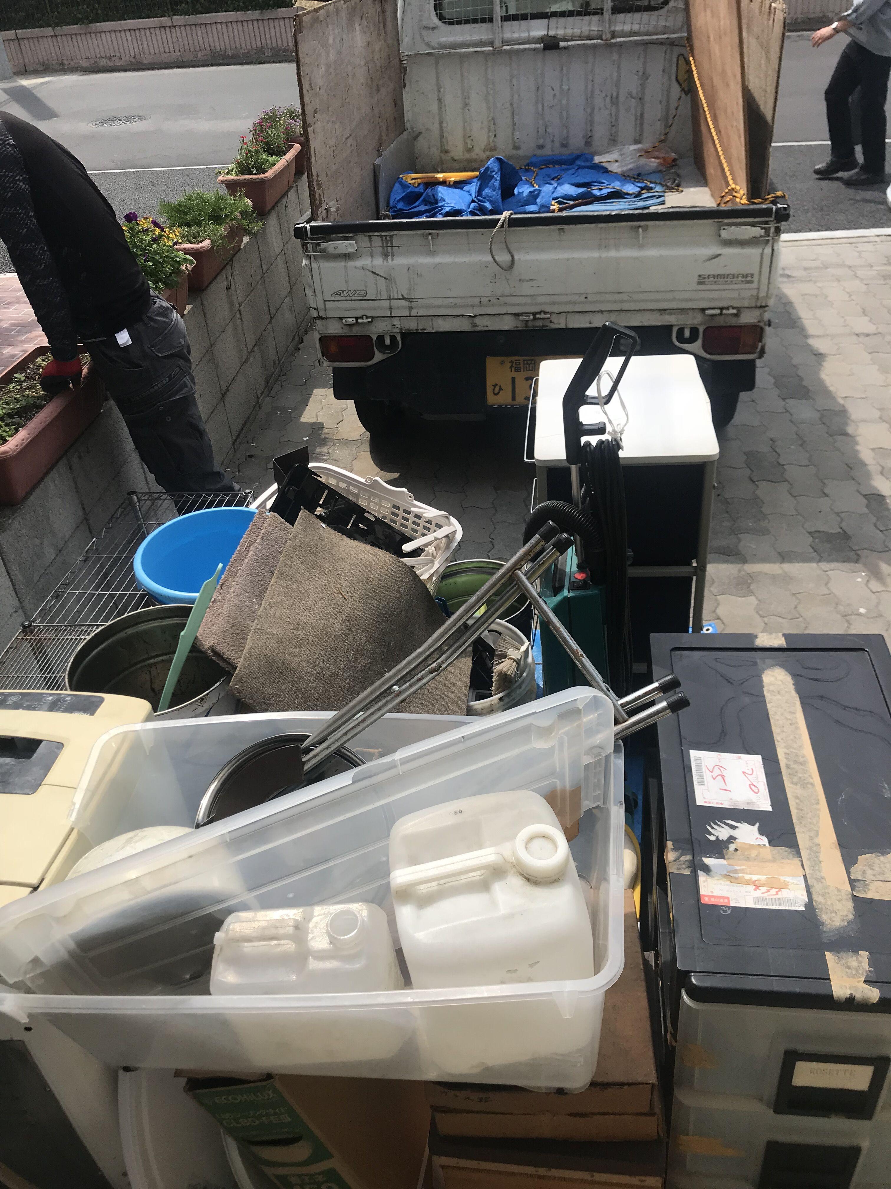 清掃会社掃除用具回収前写真