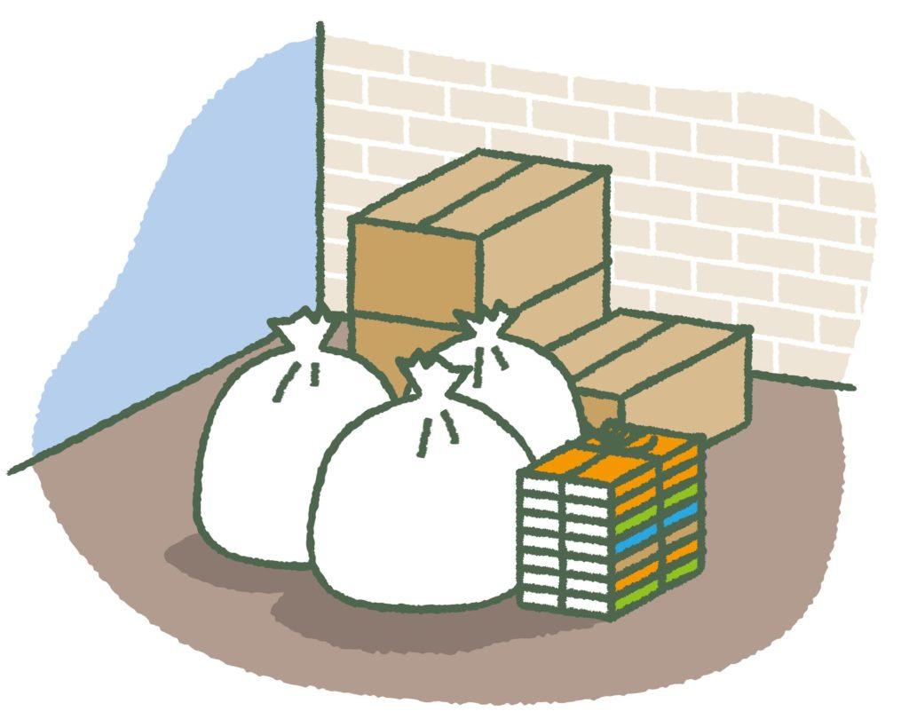 引っ越しの荷物を減らしているイメージ