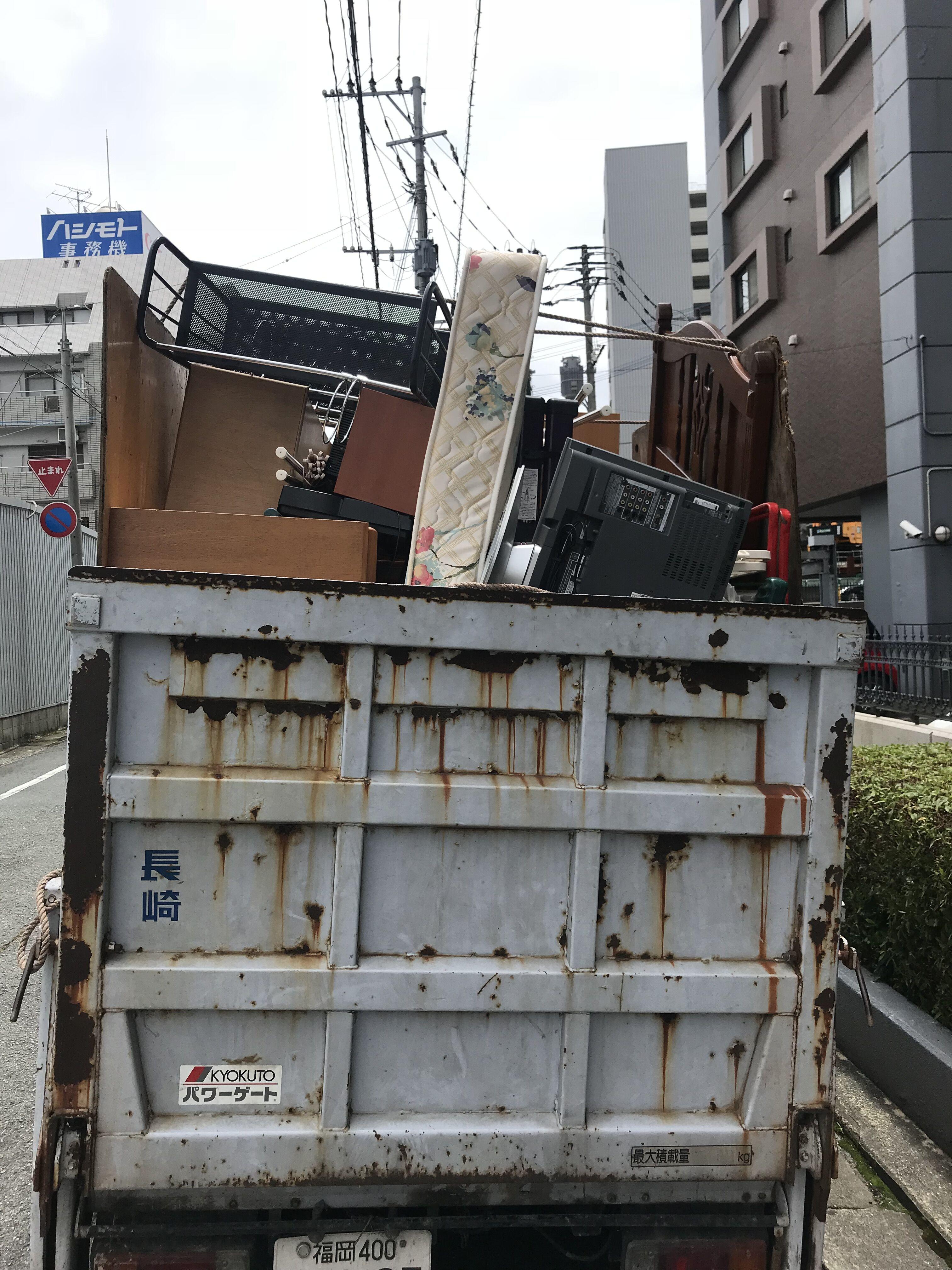 福岡県福岡市東区香椎照葉 引っ越し不用品回収作業後写真