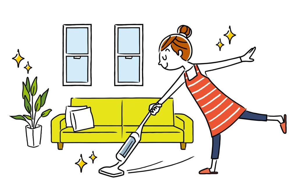 部屋を清潔にする人