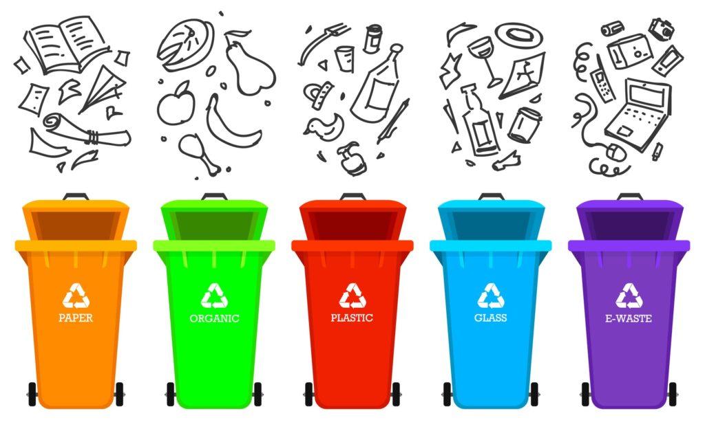 ゴミを分別するイメージ