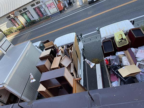 【回収実績】福岡市博多区で2階の不用品を大量に回収してきれいに片付け